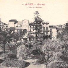 Postales: ALCIRA (VALENCIA).- GLORIETA. Lote 70082593