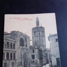 Postales: POSTAL ANTIGUA - 95 VALENCIA - CATEDRAL Y TORRE DEL MIGUELETE - FOTOTIPIA THOMAS. Lote 70572229