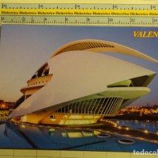 Postales: POSTAL DE VALENCIA. AÑOS 2000. CIUDAD DE LAS ARTES Y LAS CIENCIAS, PALAU. 1822. Lote 71035917