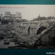 Postales: POSTAL - ESPAÑA - VALENCIA.- 102 PUENTE Y TORRES DE SERRANO - THOMAS 53 - 1914. Lote 71649163