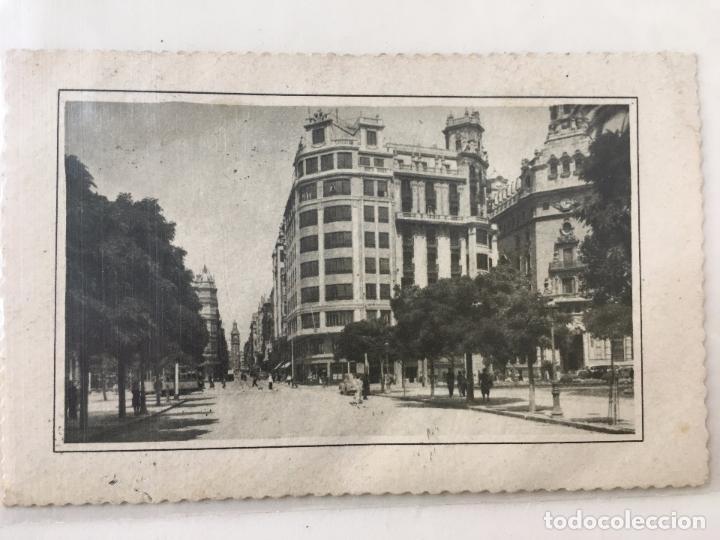 POSTAL TROQUELADA CALLE DE LA PAZ (VALENCIA) 1960 CURSADA (Postales - España - Comunidad Valenciana Moderna (desde 1940))