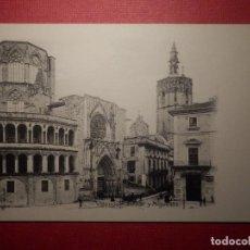 Postales: POSTAL - ESPAÑA - VALENCIA - CATEDRAL Y MOGUELETE - ED. J.F. Nº 27 - RARA . NC - 1914. Lote 72046311