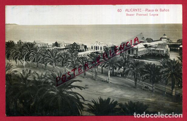 Andres Banos.Postal Alicante Playa De Banos Fotografica Andres Fabert Original P86342