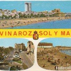 Postales: VINAROZ - 32 PASEO Y PLAYAS. Lote 73662403