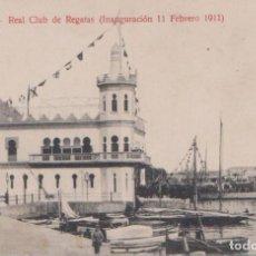 Postales: ALICANTE - REAL CLUB DE REGATAS (INAUGURACION 11 FEBRERO 1911). Lote 74332247