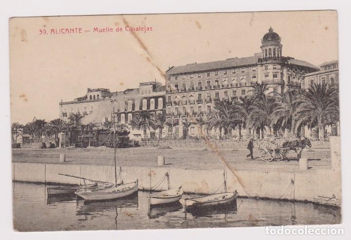 ALICANTE. MUELLE DE CANALEJAS. ED. LA CIUDAD DE ROMA Nº 39 (Postales - España - Comunidad Valenciana Antigua (hasta 1939))
