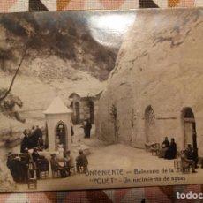 Postales: ONTENIENTE - BALNEARIO DE LA SALUD POUET - FOTO DE JOSE Mª MARTINEZ - FOTOGRAFICA. Lote 75895795