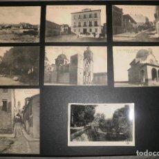 Postales: POSTALES. MONÓVAR (ALICANTE), LOTE DE 8 POSTALES DIFERENTES. BLANCO Y NEGRO, SIN CIRCULAR, AÑOS 20. Lote 76809687
