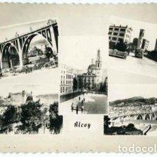 Postales: ALCOY (ALICANTE).- POSTAL MOSAICO 5 VISTAS.- EDICIONES DARVI Nº 5-1. FOTOGRÁFICA.. Lote 77926357
