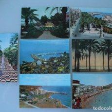 Postales: ANTIGUAS POSTALES ALICANTE: EXPLANADA ESPAÑA ,VISTA PARCIAL PUERTO, CAMPOAMOR… – AÑOS 60 . Lote 79619013