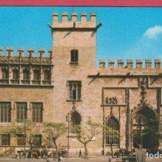 Postales: POSTAL TURÍSTICA A COLOR CON IMAGEN DE LA LONJA DE LA SEDA DE VALENCIA IMP. VELAZCO 1985 P323. Lote 80708690