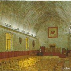 Postales: PEÑISCOLA (CASTELLON) CASTILLO, SALÓN GÓTICO - ESCUDO DE ORO Nº 8 - EDITADA EN 1968 - S/C. Lote 82354984