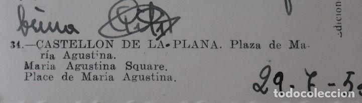 Postales: ANTIGUAS POSTALES ALICANTE CASTELLON: PLAZA Mª AGUSTINA, AVENIDA REY DON JAIME, PASEO GOMIS AÑOS 50 - Foto 5 - 82909520