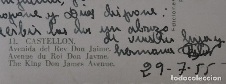 Postales: ANTIGUAS POSTALES ALICANTE CASTELLON: PLAZA Mª AGUSTINA, AVENIDA REY DON JAIME, PASEO GOMIS AÑOS 50 - Foto 6 - 82909520