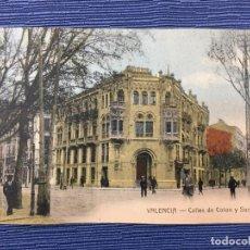 Postales: POSTAL COLOREADA VALENCIA - CALLES DE COLON Y SORNI. Lote 84913960