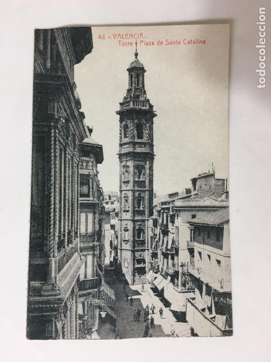 POSTAL 48- VALENCIA TORRE Y PLAZA DE SANTA CATALINA COLECCION DIARO LEVANTE (Postales - España - Comunidad Valenciana Moderna (desde 1940))