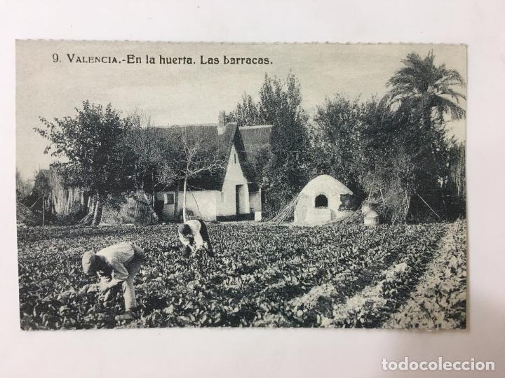 POSTAL 48- VALENCIA - EN LA HUERTA. LAS BARRACAS. - COLECCION DIARO LEVANTE (Postales - España - Comunidad Valenciana Moderna (desde 1940))