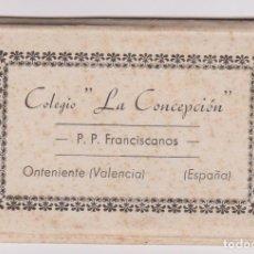 Postales: COLEGIO LA CONCEPCIÓN. P.P. FRANCISCANOS ONTENIENTE VALENCIA, 7 VISTAS 6X9 CM. INTERIOR COLEGIO.. Lote 87686772