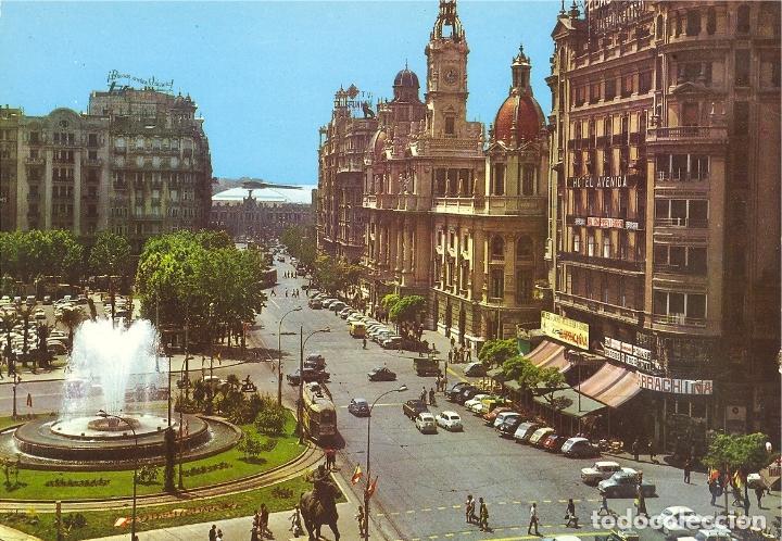 PLAZA DEL CAUDILLO. VALENCIA. EDICIONES ARRIBAS. Nº 2.095 (Postales - España - Comunidad Valenciana Moderna (desde 1940))