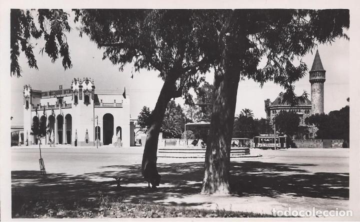 PALACIO RIPALDA Y FERIA MUESTRARIO. VALENCIA. (COMUNIDAD VALENCIANA). POSTALES : J. DURA Nº 28 (Postales - España - Comunidad Valenciana Moderna (desde 1940))