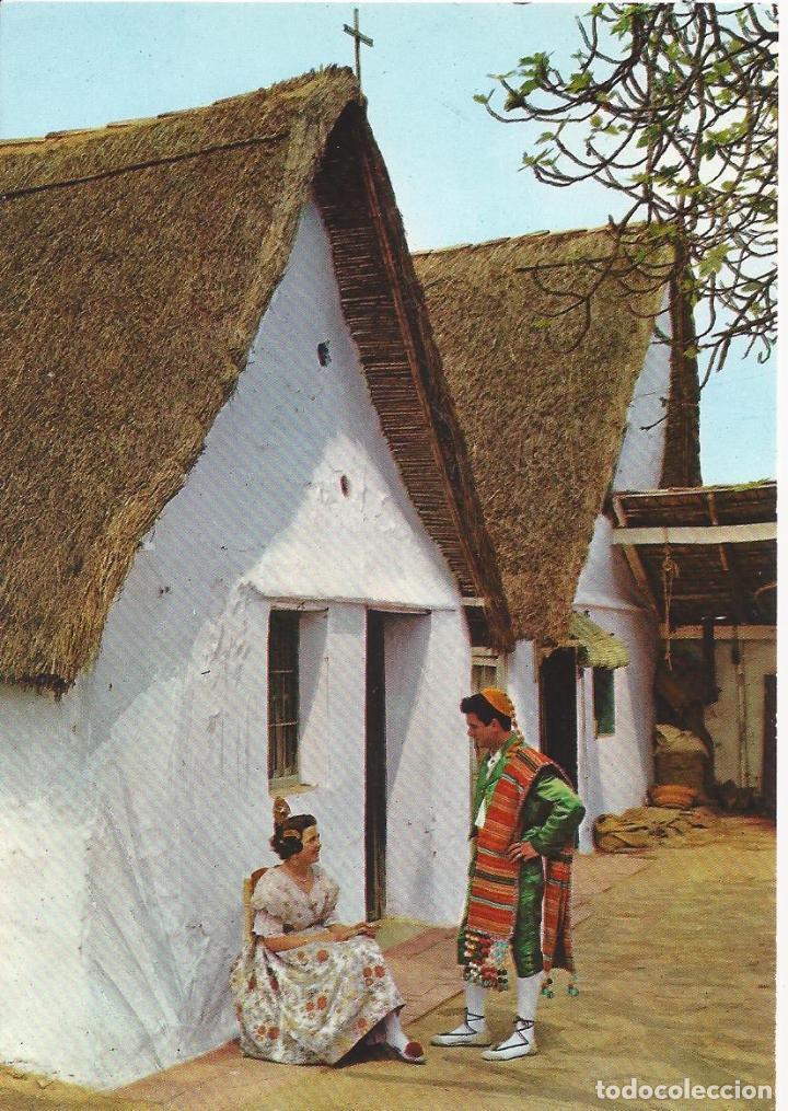 BARRACA Y TRAJES TIPICOS. VALENCIA. (COMUNIDAD VALENCIANA). POSTALES : GARCIA GARRABELLA Nº 56 (Postales - España - Comunidad Valenciana Moderna (desde 1940))