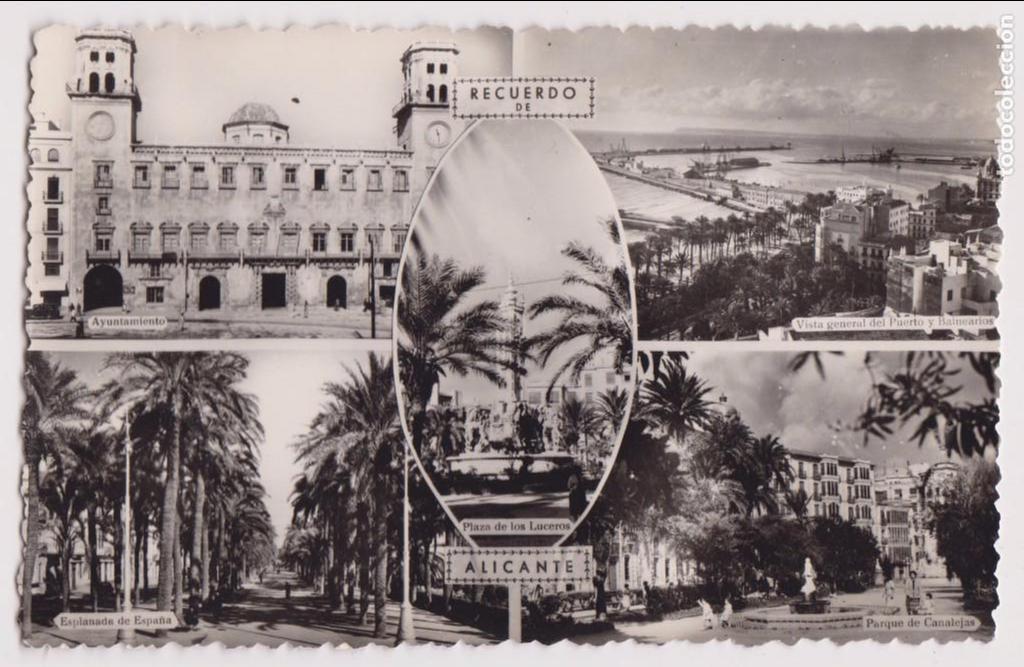 RECUERDO DE ALICANTE. PERFECTO ESTDO. (Postales - España - Comunidad Valenciana Moderna (desde 1940))