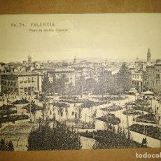 Postales: VALENCIA, PLAZA DE EMILIO CASTELAR, EDICION EBP. Lote 89386332