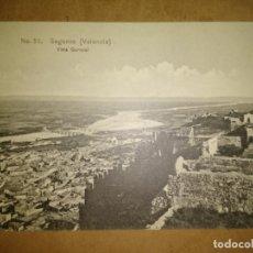 Postales: SAGUNTO, VALENCIA, VISTA GENERAL, EDICION EBP. Lote 89390064