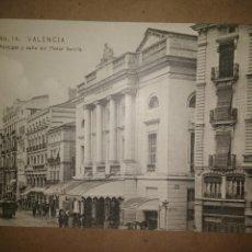 Postales: VALENCIA, TEATRO PRINCIPAL Y CALLE PINTOR SOROLLA, EDICION EBP. Lote 89391240