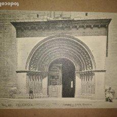 Postales: VALENCIA, CATEDRAL PUERTA BIZANTINA, EDICION EBP. Lote 89391652