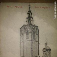 Postales: VALENCIA,TORRE EL MIGUELETE, EDICION EBP. Lote 89391696