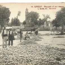 Postales: (PS-52342)POSTAL DE GANDIA-MERCADO AL POR MAYOR. Lote 90390728