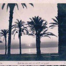 Postales: POSTAL ALICANTE, SALIDA DEL SOL EN EL POSTIGUET - 189 ARRIBAS - CIRCULADA. Lote 90759320