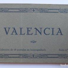Postales: BLOC - VALENCIA (2ª SERIE) - 18 POSTALES (COMPLETO) - EDICIONES JDP - AÑOS 30 - LIBRITO - MUY RARO. Lote 92455750