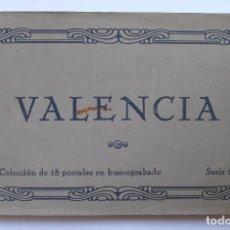 Postales: BLOC - VALENCIA (1ª SERIE) - 18 POSTALES (COMPLETO) - EDICIONES JDP - AÑOS 30 - LIBRITO. Lote 92457330