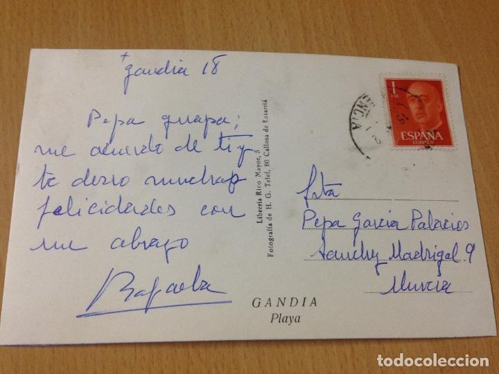 Postales: ANTIGUA POSTAL PLAYA DE GANDIA VALENCIA - Foto 2 - 92971355