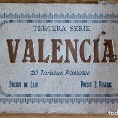 Postales: 16 POSTALES DE VALENCIA, TERCERA SERIE - INCOMPLETO FALTAN 4 POSTALES.. Lote 93795015