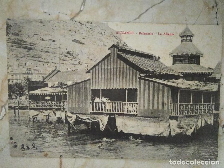 ALICANTE. BALNEARIO ' LA ALIANZA ' CIRCULADA 1914 (Postales - España - Comunidad Valenciana Antigua (hasta 1939))