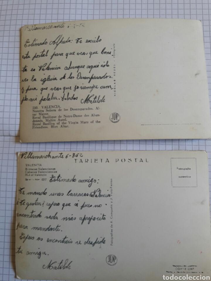 Postales: Lote 2 postales Valencia 1952 - Foto 2 - 94382522