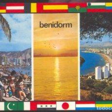 Postales: 127 - BENIDORM (ALICANTE) .- PLAYA DE LEVANTE- ATARDECER - VISTA PARCIAL. Lote 95046515