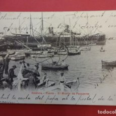 Postales: VALENCIA. EL PUERTO. MUELLE DE PASAGEROS. Lote 95276327