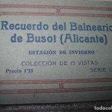 Postales: LIBRO POSTALES ANTIGUAS COMPLETO AGUAS BUSOT BALNEARIOS ALICANTE. Lote 95277071