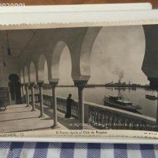 Postales: POSTAL ALICANTE. EL PUERTO DESDE EL CLUB DE REGATAS. ED. ARRIBAS. ESCRITA 1951. Lote 96173023