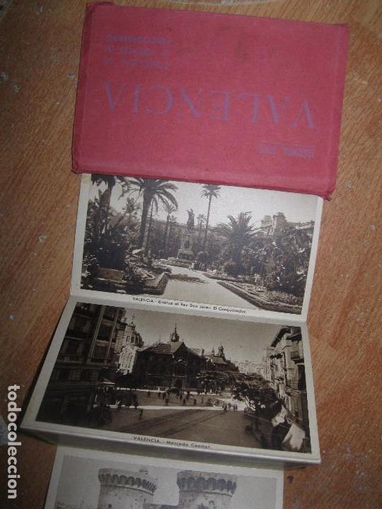 LIBRO ALBUM DE 12 POSTALES ANTIGUAS VALENCIA HUECOGRABADO 2º SERIE CALLES (Postales - España - Comunidad Valenciana Moderna (desde 1940))