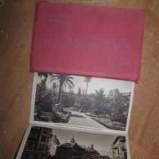 Postales: LIBRO ALBUM DE 12 POSTALES ANTIGUAS VALENCIA HUECOGRABADO 2º SERIE CALLES. Lote 96645807