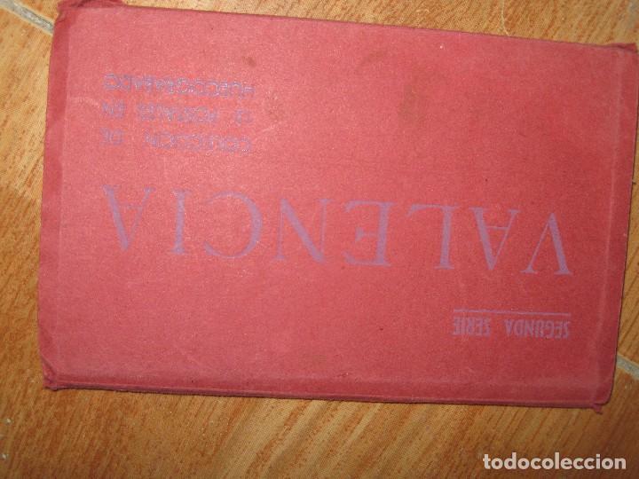 Postales: LIBRO ALBUM DE 12 POSTALES ANTIGUAS VALENCIA HUECOGRABADO 2º SERIE CALLES - Foto 3 - 96645807