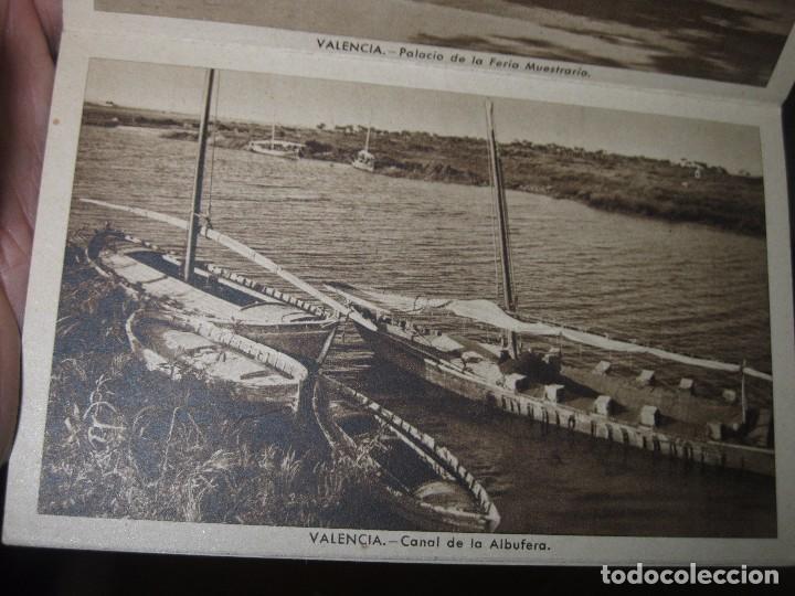 Postales: LIBRO ALBUM DE 12 POSTALES ANTIGUAS VALENCIA HUECOGRABADO 2º SERIE CALLES - Foto 5 - 96645807