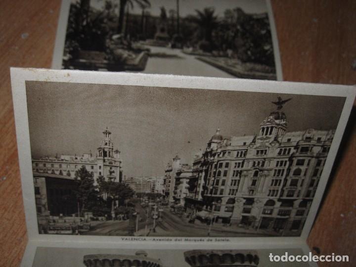 Postales: LIBRO ALBUM DE 12 POSTALES ANTIGUAS VALENCIA HUECOGRABADO 2º SERIE CALLES - Foto 9 - 96645807
