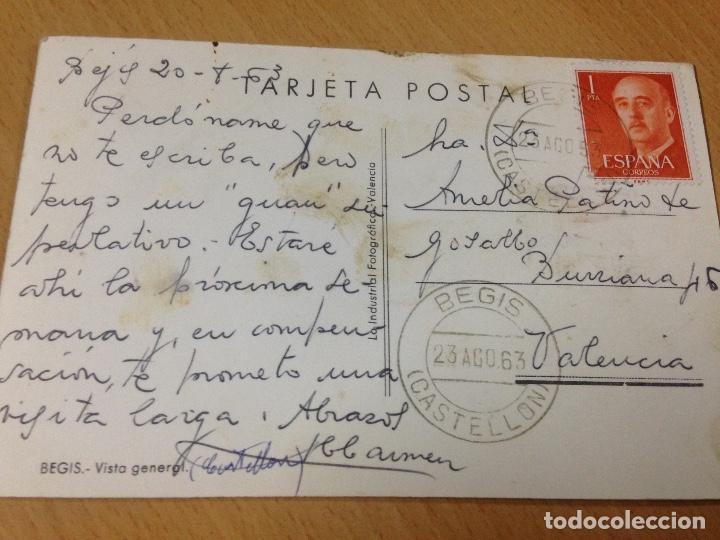 Postales: ANTIGUA POSTAL BEGIS CASTELLÓN LA INDUSTRIAL FOTOGRAFICA VALENCIA - Foto 3 - 97158699