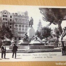 Postales: ANTIGUA POSTAL VALENCIA PLAZA EMILIO CASTELAR EDICIONES UNIQUE. Lote 97354083